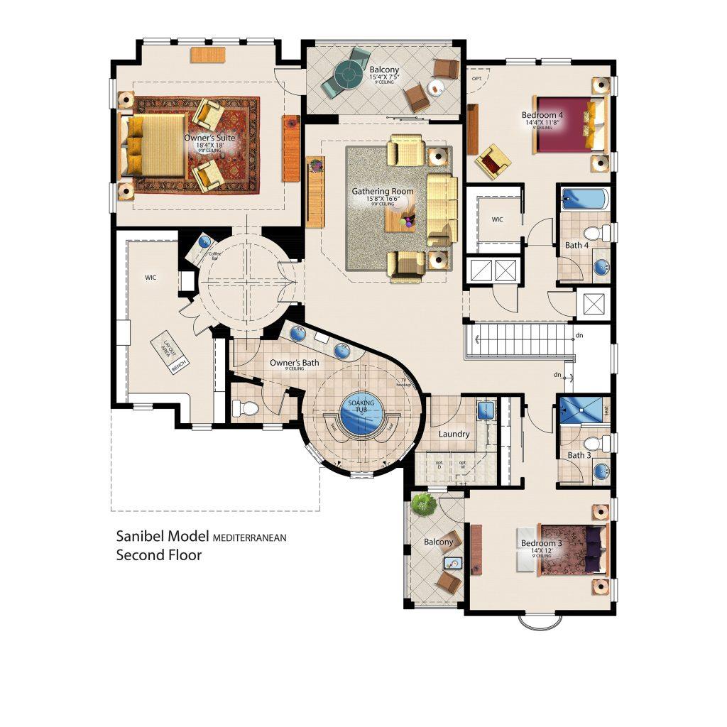Sanibel Second Floor