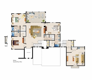 Delray Second Floor Plan - Canopy Oaks Winter Garden Home