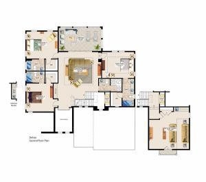 Delray Second Floor Plan - Canopy Oaks Winter Garden Home